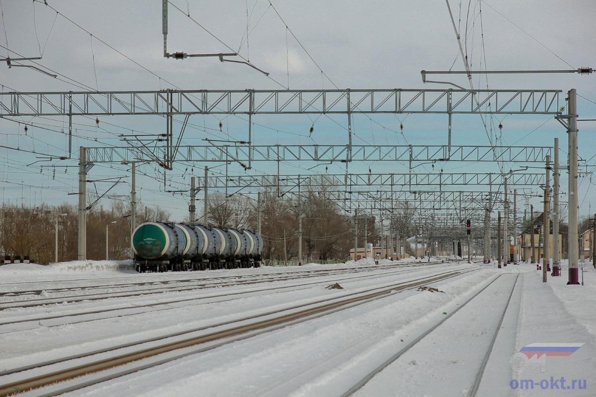 Вид на станцию Лихославль со стороны Калашниково