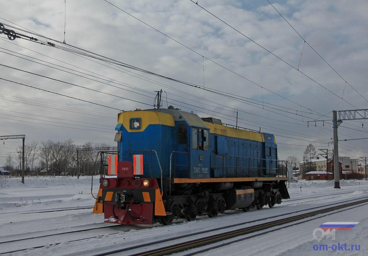 Тепловоз ТЭМ2-7502 проследует станцию Лихославль
