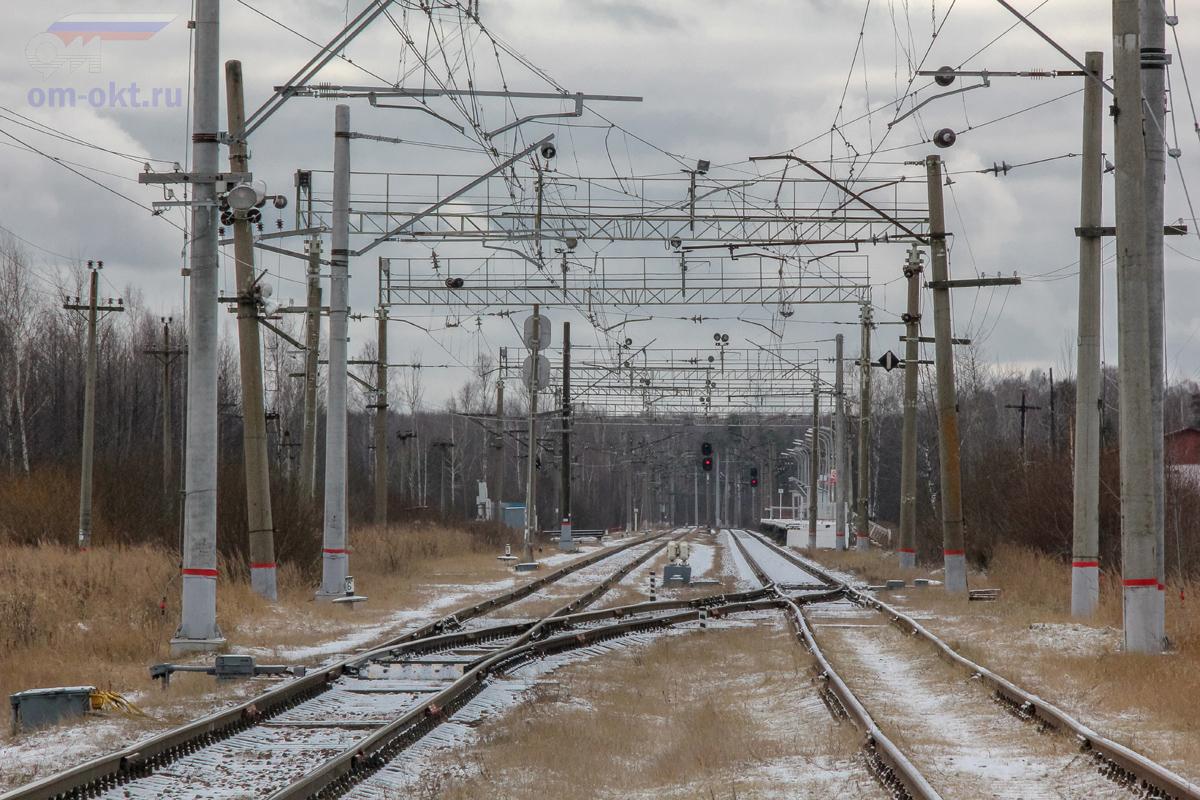 Вид на станцию Конаковский Мох со стороны платформы Донховка