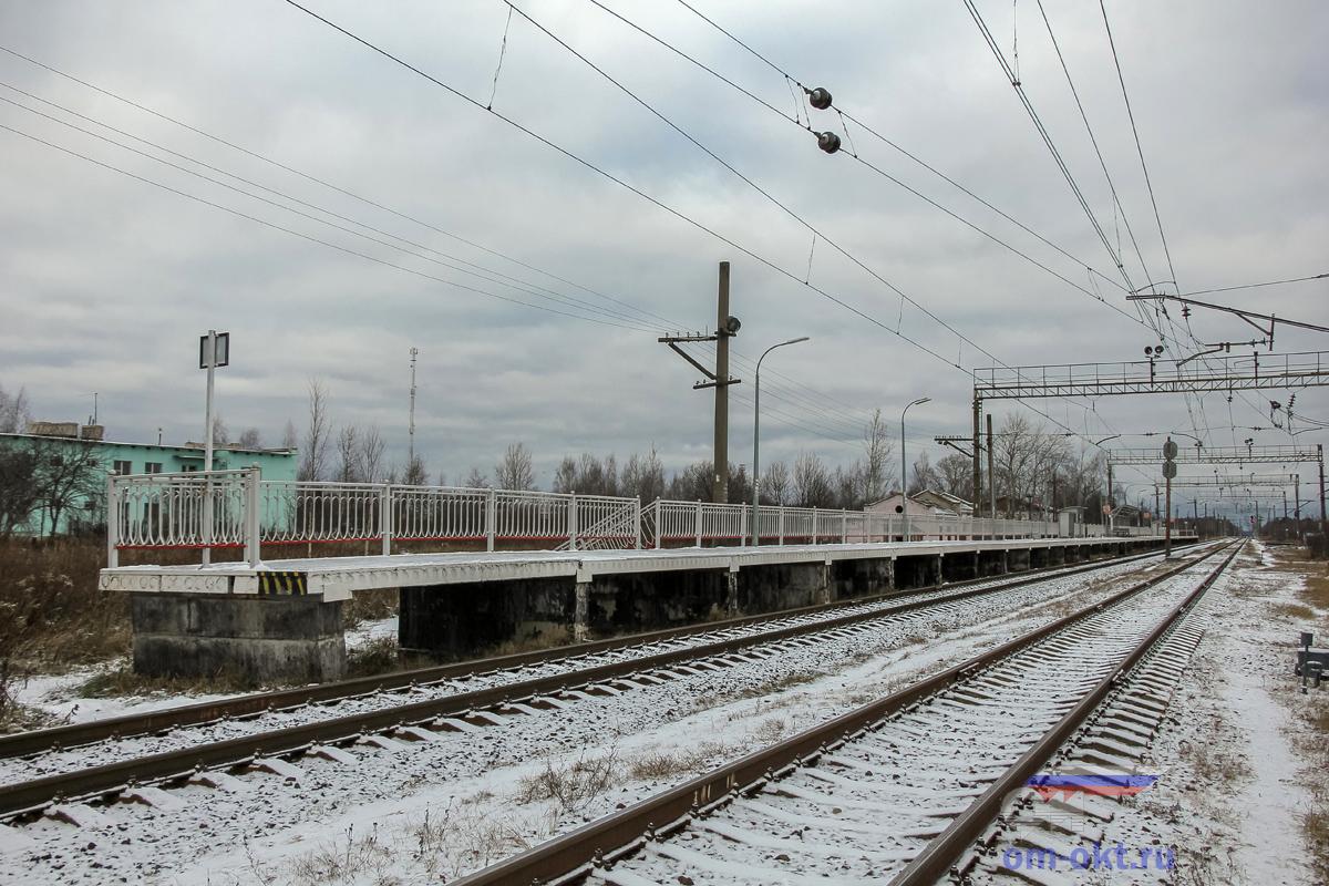 Пассажирская платформа на станции Конаковский Мох