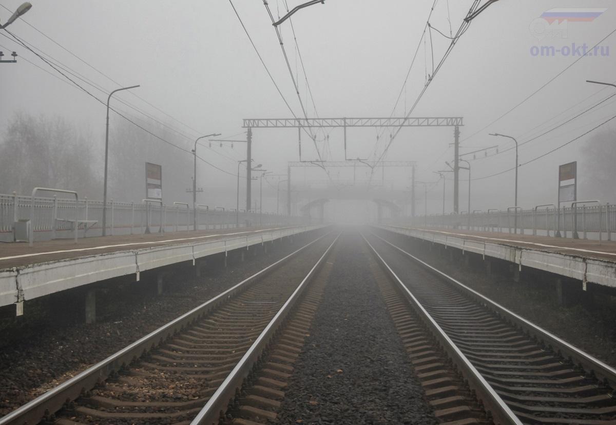 Вид на остановочный пункт Фроловское со стороны платформы Стреглово