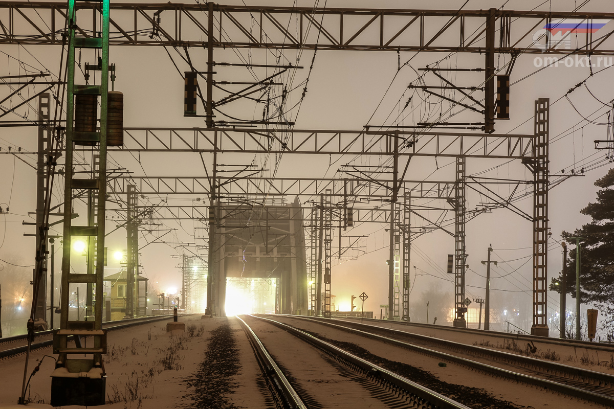Вид от платформы Левобережная в сторону станции Химки