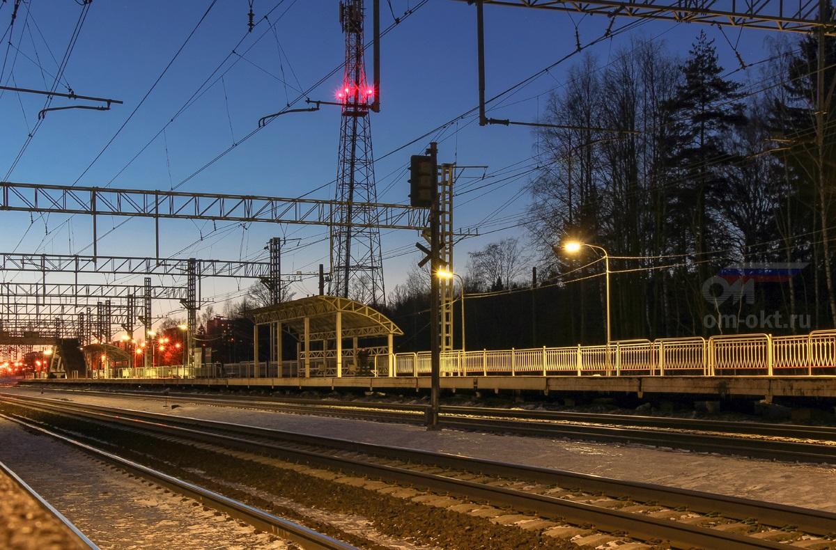 Пассажирская платформа «Из Москвы», остановочный пункт Малино