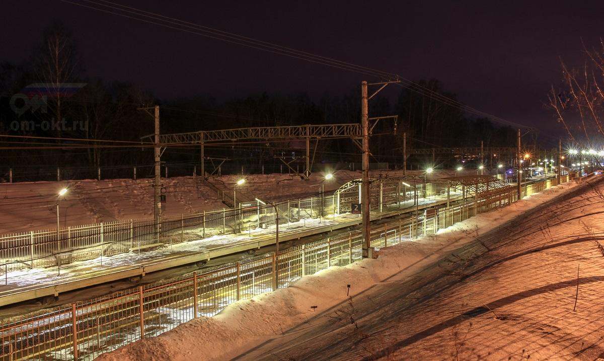 Вид на платформу Поваровка со стороны Радищево