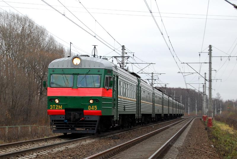 Электропоезд ЭТ2М-045, перегон Дорошиха - Лихославль