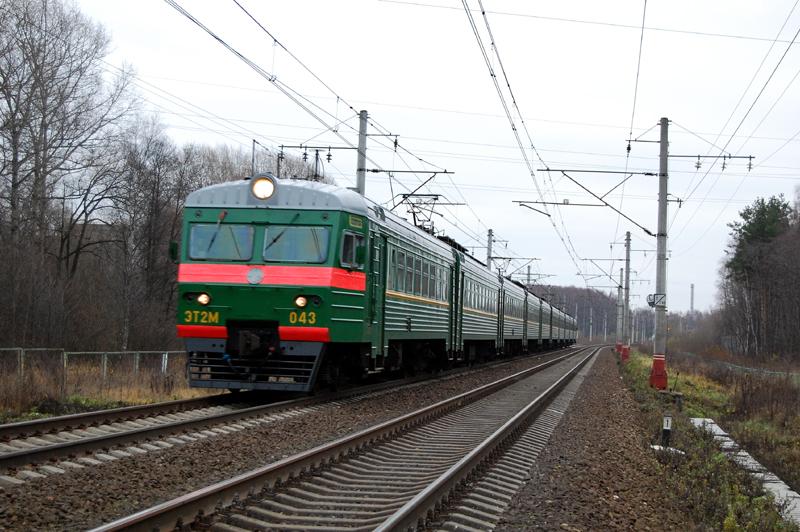 Электропоезд ЭТ2М-043, перегон Дорошиха - Лихославль