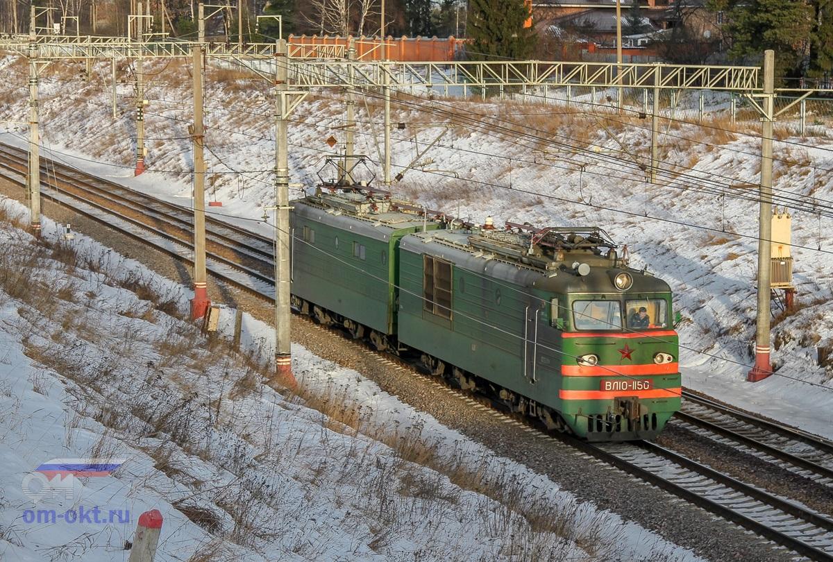Электровоз ВЛ10-1150 проследовал платформу Поваровка