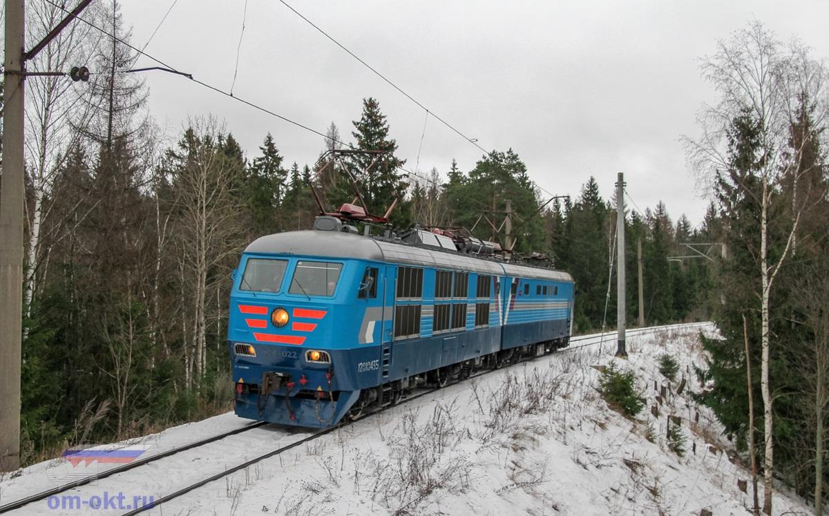 Электровоз ЧС6-022 на соединительной ветви Поварово-III - Поварово-I