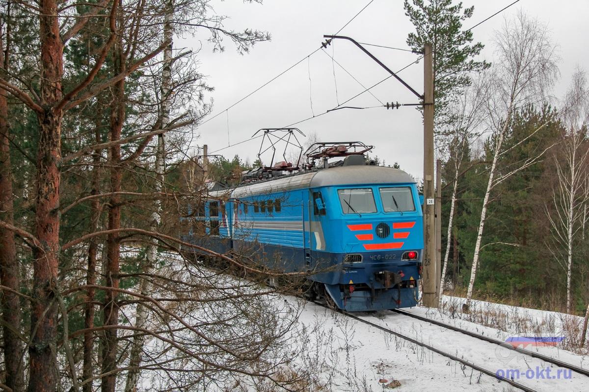 Электровоз ЧС6-022, соединительная ветвь Поварово-III - Поварово-I