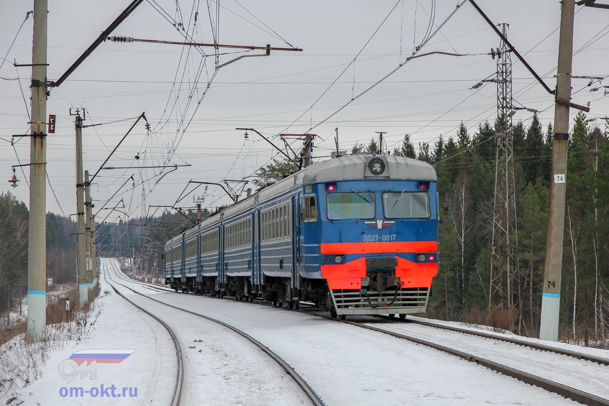 Электропоезд ЭД2Т-0017, перегон Поварово-III - Поварово-II