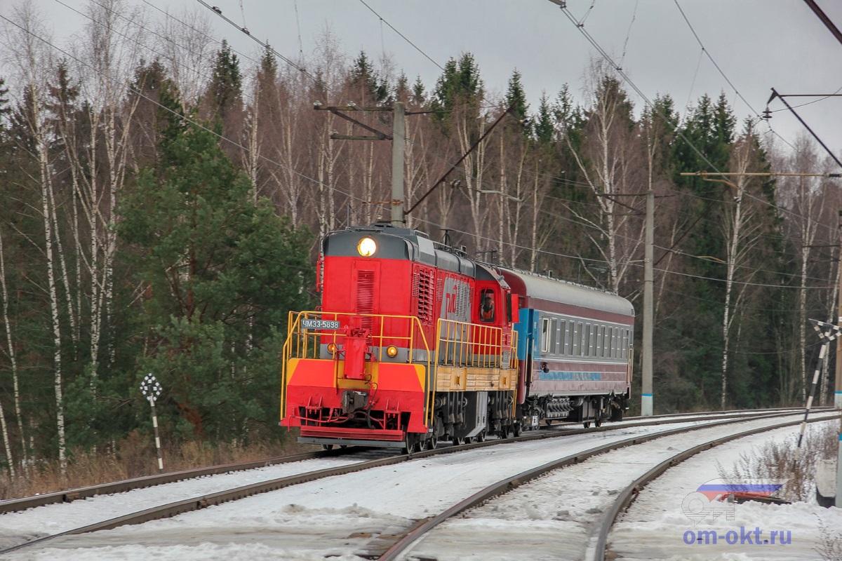 Тепловоз ЧМЭ3-6558 с вагоном-путеизмерителем