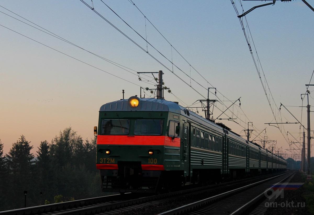 Электропоезд ЭТ2М-100 на перегоне Подсолнечная - Клин