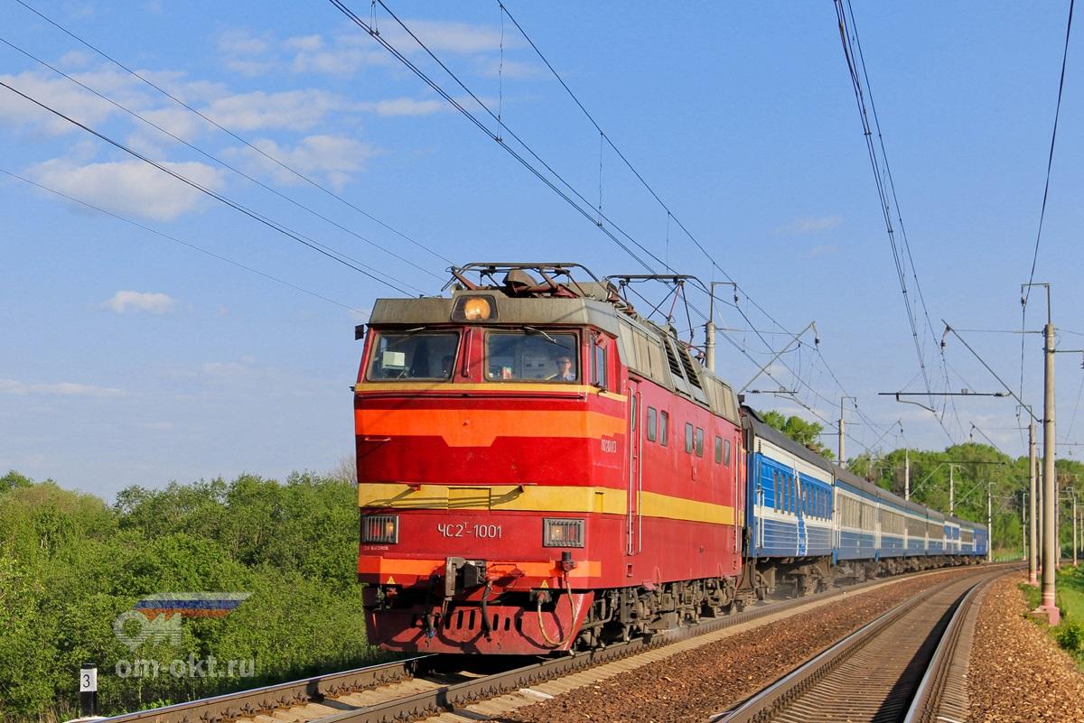 Электровоз ЧС2Т-1001 с поездом Таллин — Москва