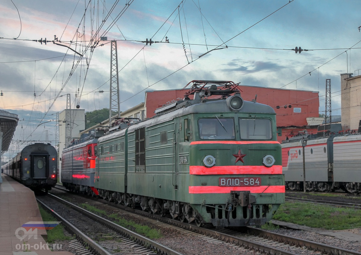 Электровоз ВЛ10-584, станция Тверь