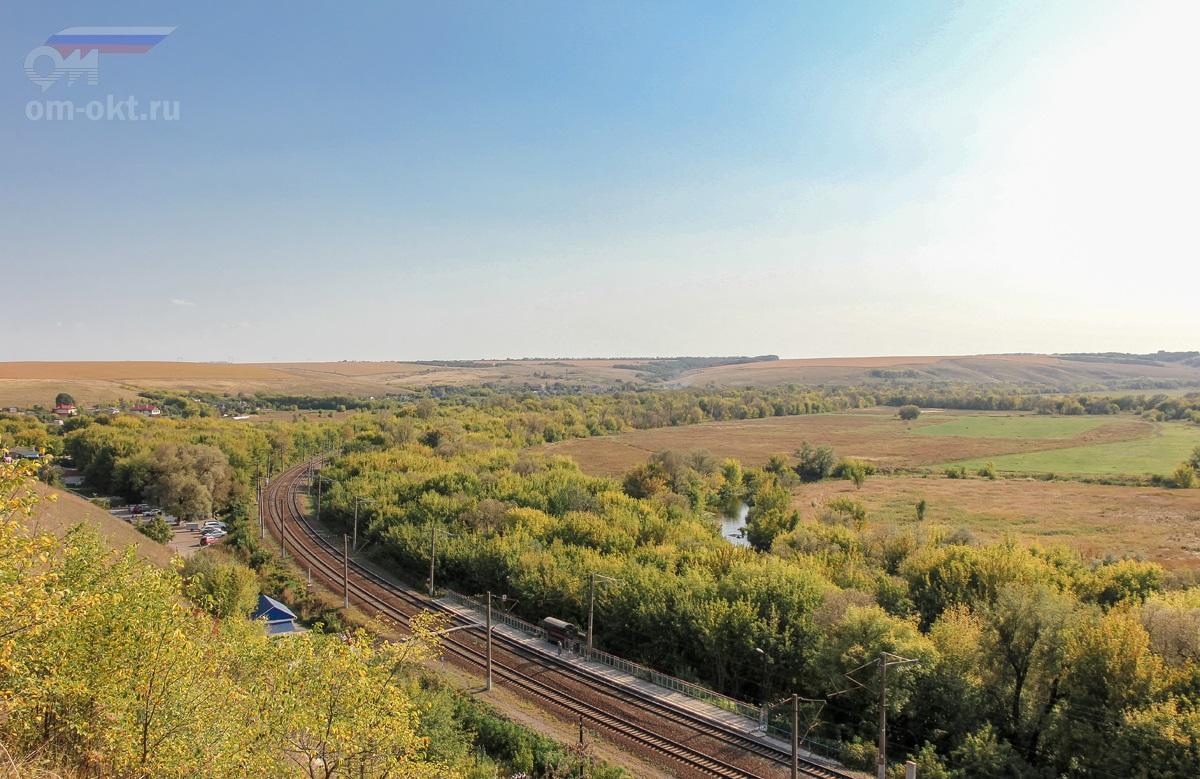 Вид на перегон перегон Копанище - Острогожск