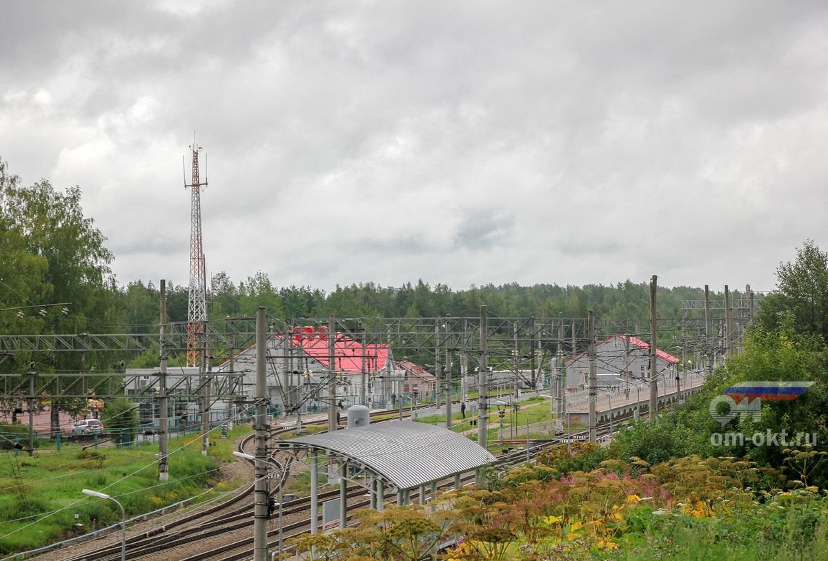 Пассажирские платформы станции Угловка