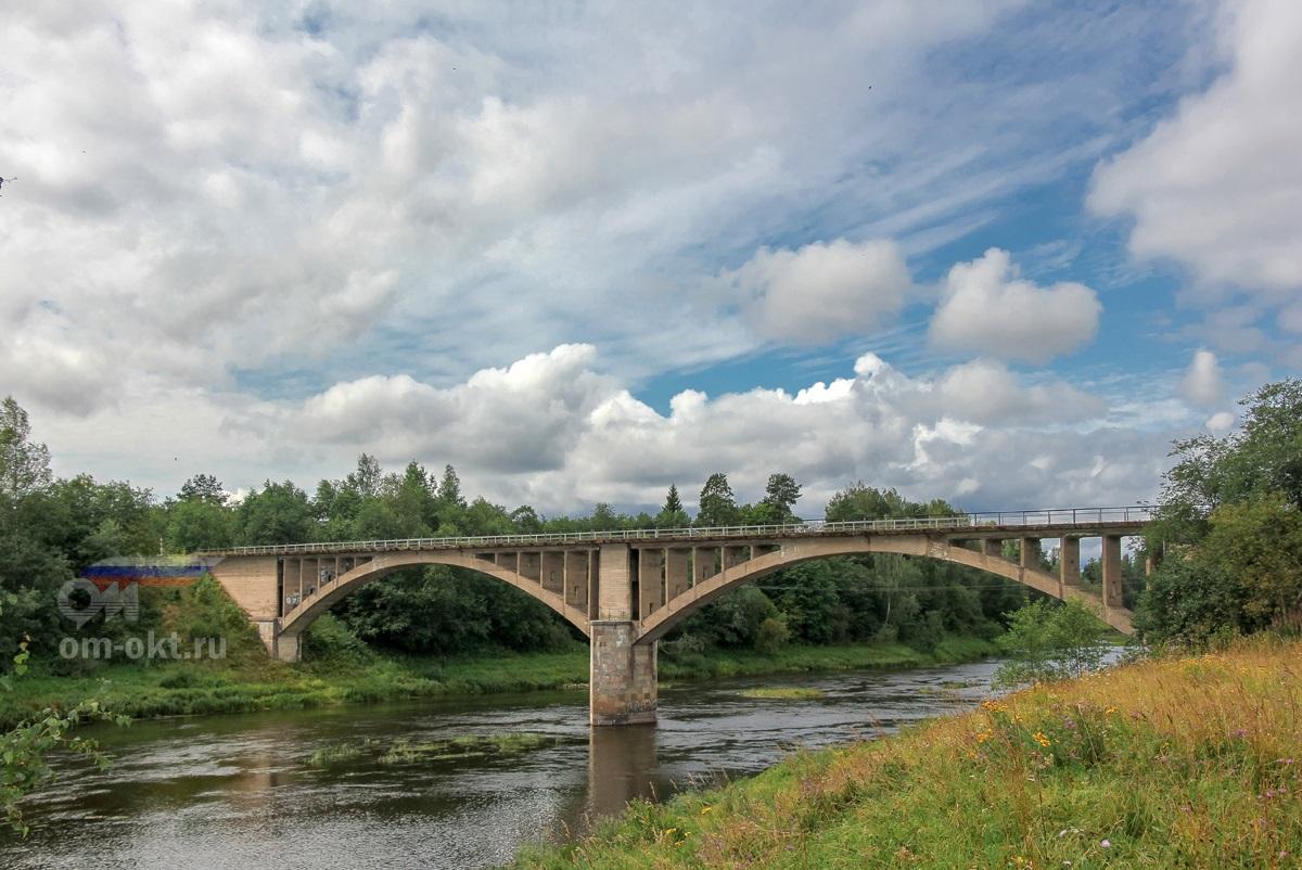 Мост через реку Мста на линии Окуловка - Неболчи