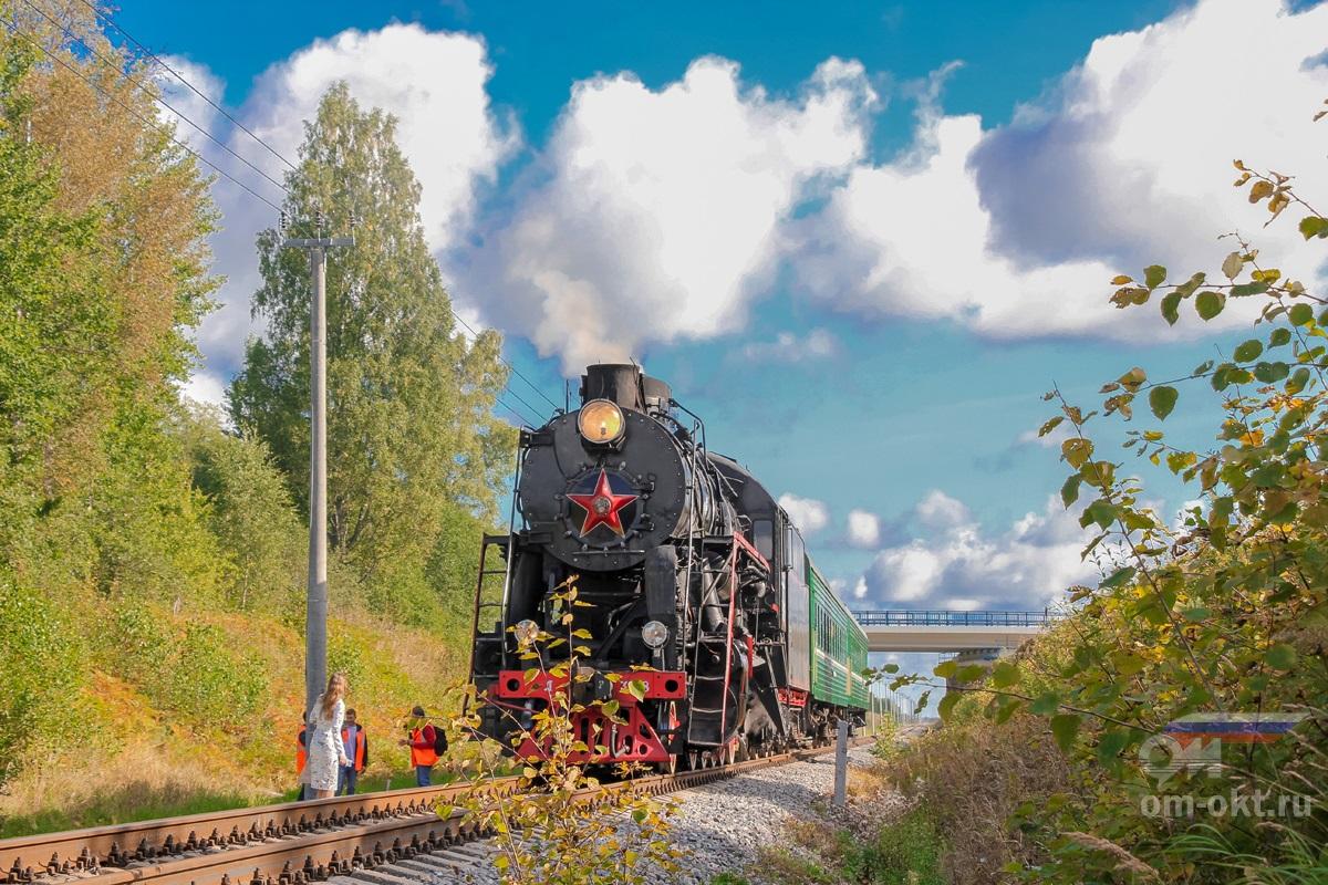 Паровоз Л-3958 на перегоне Бологое-Полоцкое - Куженкино