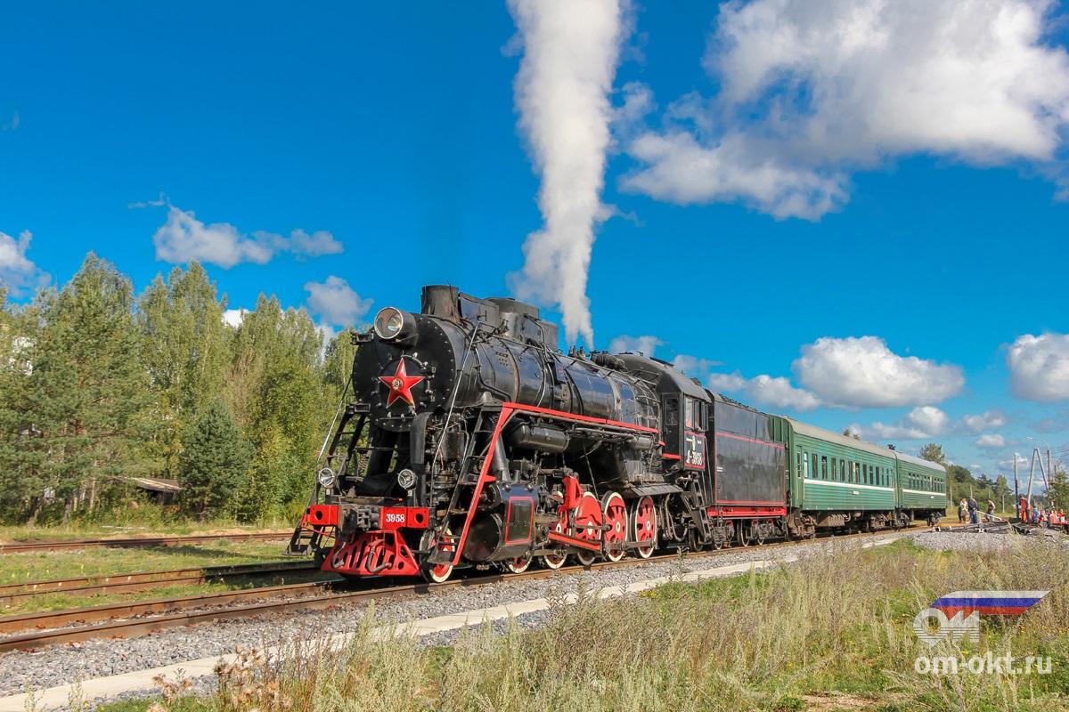 Паровоз Л-3958 на станции Куженкино